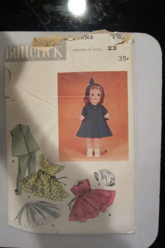 Butterick 7563 Doll Wardrobe fits Saucy Walker (Walker Saucy)