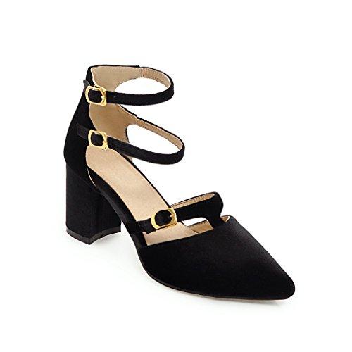 Black Haut Romain Boucle Peu Femmes Double Taille Chaussures épaisseur Profonde Grande Bouche avec Fait Sandales Talon tRwxHqxZ6