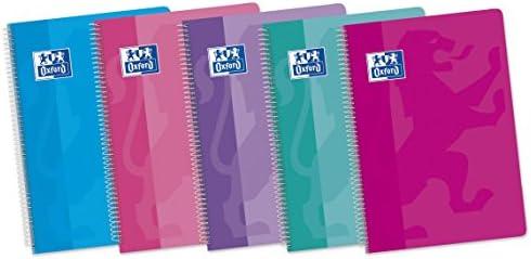 Oxford Classic 400072718 - Pack de 5 cuadernos espiral de tapa blanda, Fº: Amazon.es: Oficina y papelería