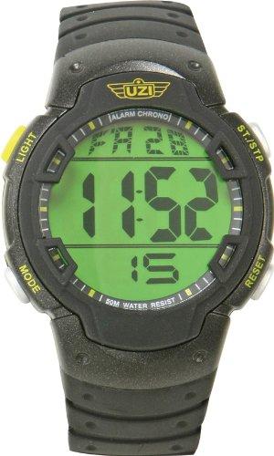 Uzi Watch Tritium - Uzi Men's Uzi-89-R The Guardian Black Rubber Strap Watch