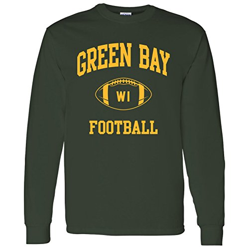 otball Arch American Football Team Long Sleeve T Shirt - Large - Forest ()