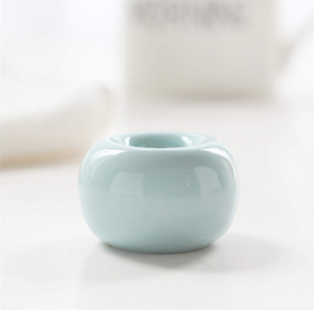 treasure-house Nordeuropa einfachen Stil Zahnbürstenhalter aus Keramik Porzellan Zahn Pinsel Ständer Badezimmer Lagerung Organizer Ring Vintage Mini-New 4PCS Badausstattung