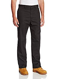 """Dickies Occupational Workwear LP812BK 40x32 Polyester/ Cotton Relaxed Fit Men's Industrial Flat Front Pant with Straight Leg, 40"""" Waist Size, 32"""" Inseam, Black"""