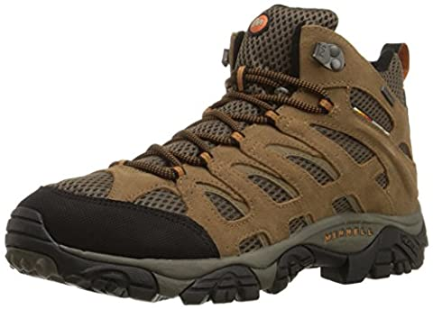 Merrell Men's Moab Mid Waterproof Hiking Boot,Earth,8 M US - Leather Mid Waterproof Boot
