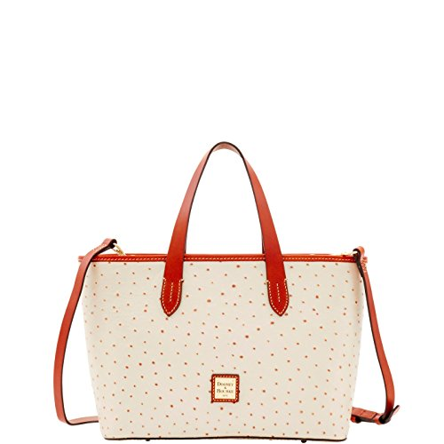 Dooney & Bourke Ostrich Brandy Satchel Pearl