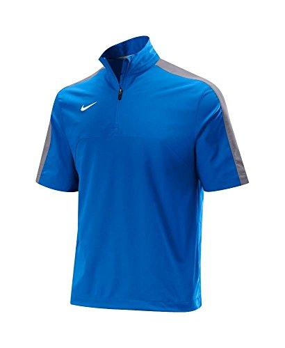 Nike Dri Fit 1/4 Zip Baseball Pullover Jacket Mens Royal/Gray - (Zip Pullover Hot Jacket)