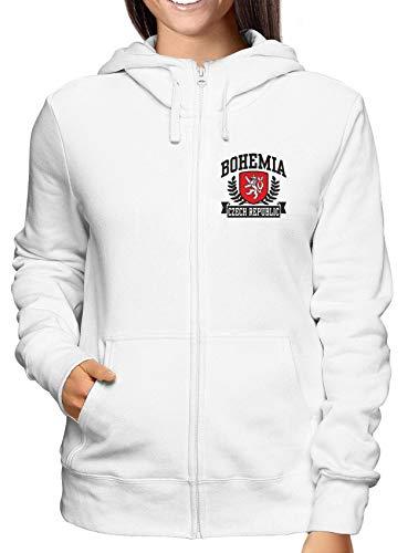Zip Republic Damen Weiss Sweatshirt Tstem0010 Hoodie Czech Bohemia gvqwaW