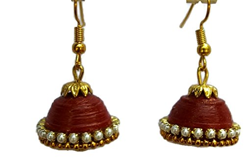 Colour Quilling Small Jhumka Earring for Women