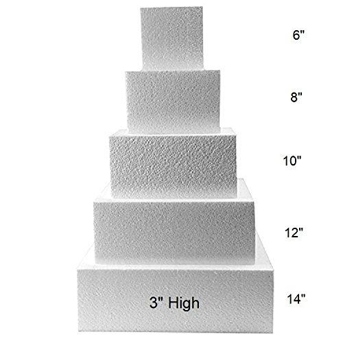 Oasis Supply FK S3x681012 Fake Dummy Cake Set expanded polystyrene Foam
