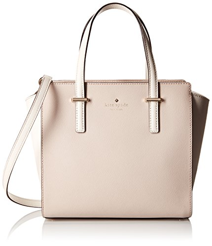 kate spade new york Cedar Street Small Hayden Satchel Bag, Crisp Linen/Cement, One Size by Kate Spade New York