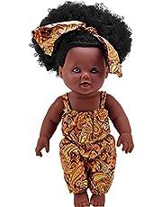 Afrikaanse pop Afrikaanse poppen voor meisjes baby spelen poppen met krullend haar voor kinderen perfect voor verjaardagscadeau