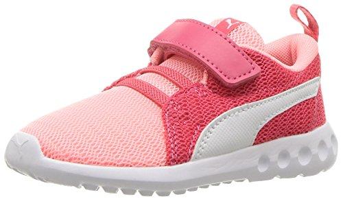PUMA Baby Carson 2 Velcro Kids Sneaker, Soft Fluo Peach White, 7 M US ()