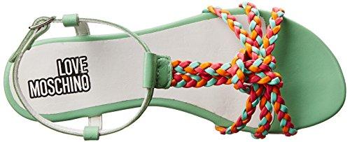 Moschino Braided Twist Dress Love Green Women's Flat Sandal Multi dzWBqCwO