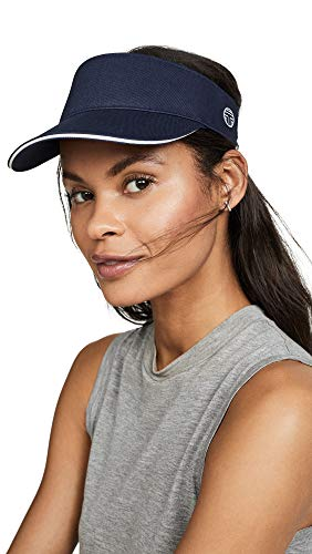 Tory Sport Women's Performance Visor, Tory Navy, Blue, Stripe, One Size