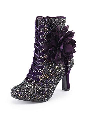 Corte Marroni Tacco Dimensioni Caviglia Bordeaux Stringate Donne Di Scarpe Couture Medio Floreale Signore Joe Delle Stivali 8 Delle 5 4qRCvw