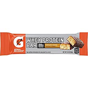 Gatorade Recover Chocolate Caramel Whey Protein Bar, 2.8 Ounce