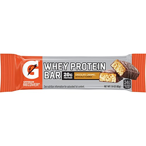 Gatorade Recover Chocolate Caramel Whey Protein Bar, 2.8 Ounce