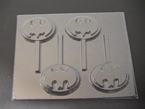 Capeman Emblem Chocolate Candy Lollipop Mold Batman