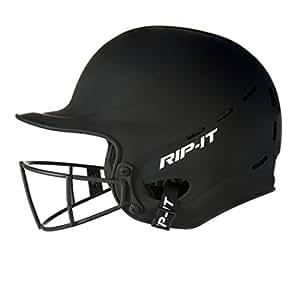 Rip-It Vision Pro Matte Softball Batting Helmet (Matte Black, Extra Small)