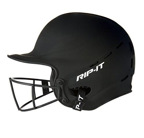 Rip-It Vision Pro Matte Softball Batting Helmet (Matte Black, Medium/Large)