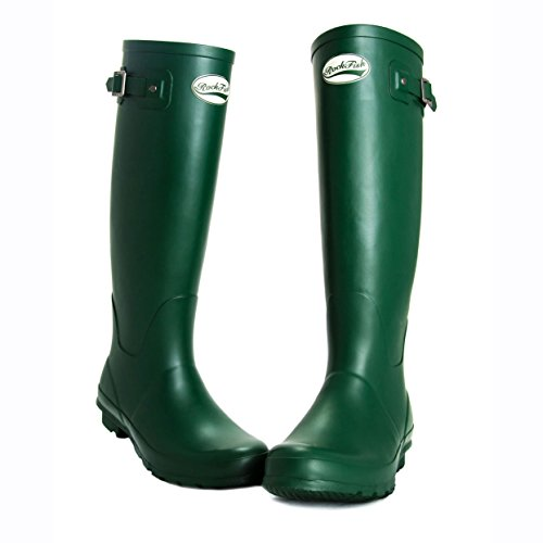 AWARD WINNING BOOTS, knee-high, ladies wellington boots, natural rubber, calendered, cushioned insole, Size 3, FREE DELIVERY Racing Green