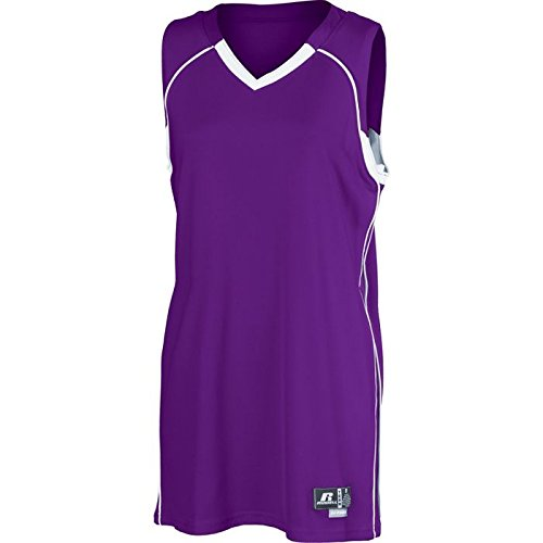 Russell Women's Side Stripe Basketball Game Jersey (Athletic Russell Uniforms Baseball)