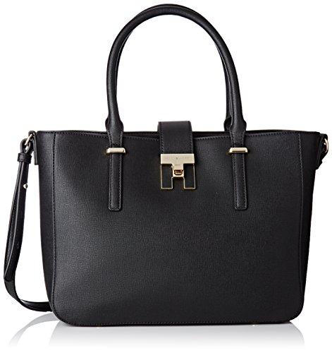 Th L w Tote Mujer 11 black Tommy X Bolso Para Totes 5x24x31 Hilfiger Heritage Cm H Negro 5qnUxfS