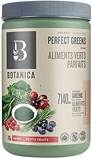 Botanica Organic Perfect Greens Powder, Berry Flavour (27 Servings, 216 Grams) – Vegan, Gluten-Free, Green Sup