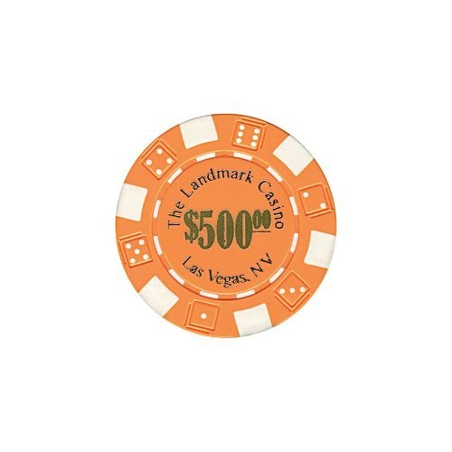 Trademark Poker Landmark Casino 50 Poker Chips (500-Piece), (Landmark Casino Chip)