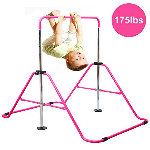 Reliancer Expandable Gymnastics Bars Junior Training Bar Adjustable Height Gymnastic Horizontal Bars Children Folding Training Monkey Bars Child Gym Climbing Tower Kip Balance Bar for Kids - Gymnastics Swing Kip