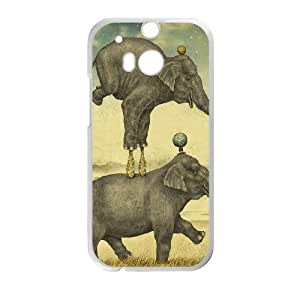 ?IMN PUHT HTC One M8 Phone Cases White Vintage Elephant FJo892953