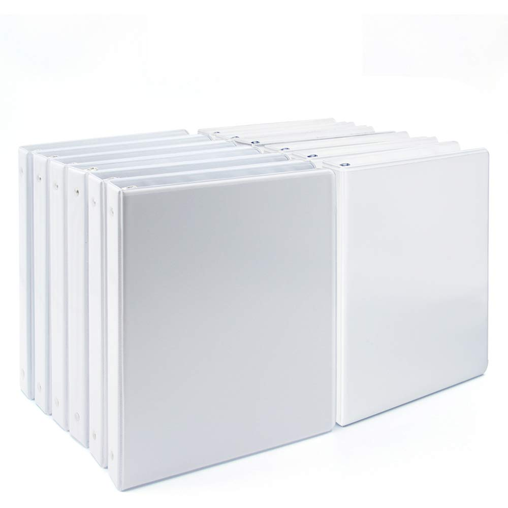 Comix 1 inch 3-Ring-Binder Durable Presentation View Binders Holds 200 Sheets 12pack (A2130-12) (White) by Comix