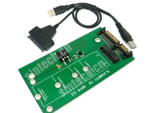 Tarjeta adaptadora SATA Sintech NGFF M.2 SSD con cable US...