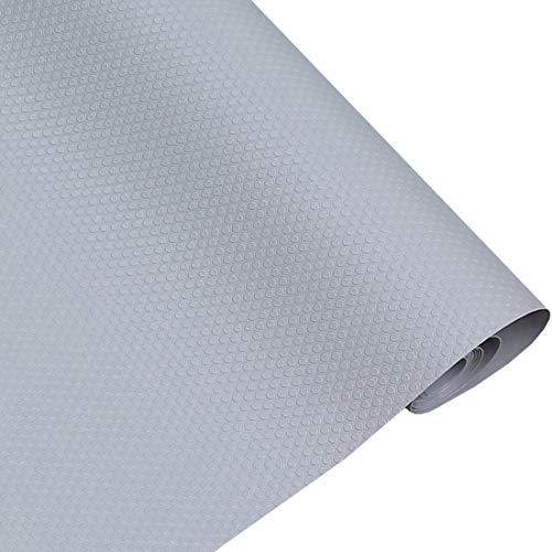 Rollo de forro impermeable de etilvinilacetato para cajones de nevera, cocina, bano, armarios, cajones, armarios (gris)