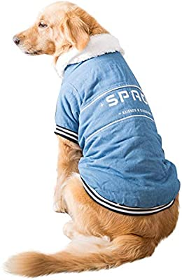 CT COUTUDI Large Breed Dog Clothes Corduroy Stylish Fleece Jacket Big Dog Winter Coat 3XL-8XL for Golden Retriever German Shepherd Husky Samoyed