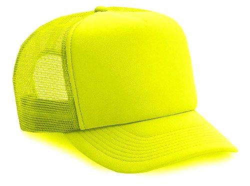 ThatsRad Neon Mesh Trucker Hat Cap (Neon Yellow) ()