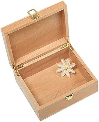 learnarmy Caja de Madera Grande con Tapa – Caja de Madera con Tapa ...
