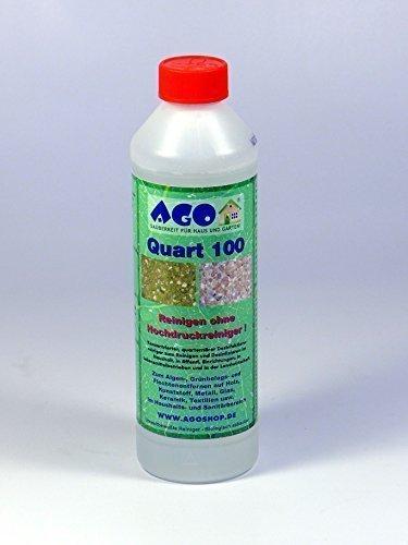 AGO Quart 100 Hochkonzentrat Grünbelagentferner 500ml Konzentrat. Gegen Algen, Flechten und sonstige Grünbeläge. Biologisch abbaubar, Chlor- und Säurefrei