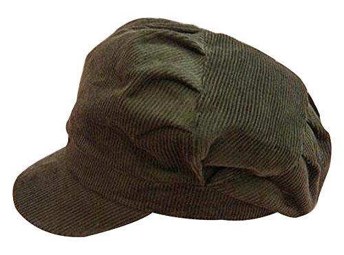 YOYEAH Newsboy Cabbie Beret Cap Solid Corduroy Painter Visor Hats Women Spring Autumn Army (Corduroy Newsboy)