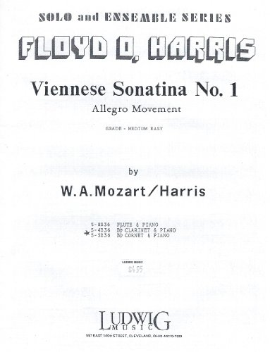 Allegro Floyd - Viennese Sonatina No. 1 Allegro Movement Bb Cornet & Piano W.A. Mozart/Harris S-5B36
