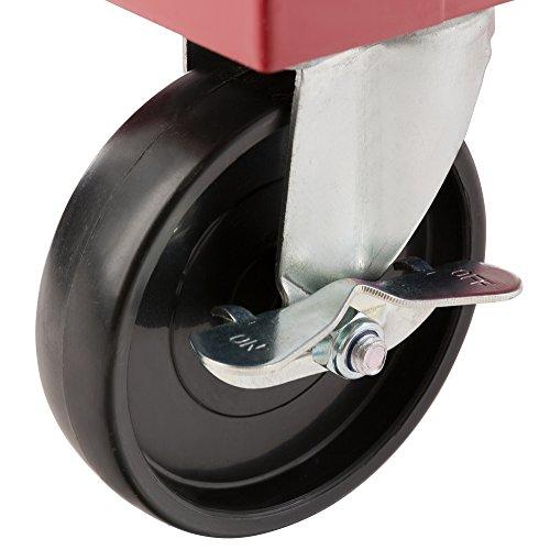Arebos - Carrito para herramientas con 5 cajones y cierre (rojo): Amazon.es: Industria, empresas y ciencia