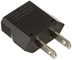 2 Travel Europe to USA Power Plug Adapter Convert Converter EU To US This plug adapter is for European electronics devices that have 2 round prong and converts them to the America style with 2 flat parallel prongs. - Most electronic devices h...