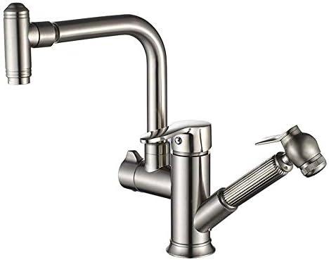 飲料水フィルタータップキッチンシンクミキサータップスプレーガンシンクを備えた真鍮の構造蛇口を引くキッチンの蛇口シンクの蛇口高級浴室設備