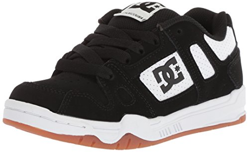 - DC Boys' STAG Skate Shoe Black/White/Gum 11.5 M US Little Kid