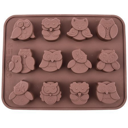 chawoorim-12-owls-silicone-cake-bread-chocolate-jelly-candy-baking-mould-craft-mold