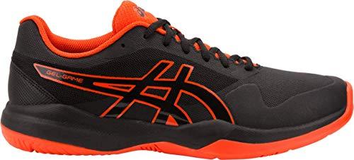 Asics Tennis - ASICS Gel-Game 7 Men's Tennis Shoe, Black/Cherry Tomato, 10.5 D US
