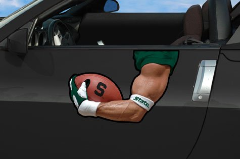 Michigan State Spartans Car Flag (Michigan State Arm Magnet)