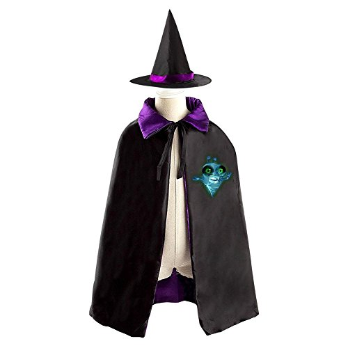 Mummy Fly Halloween Costume Witch Wizard Cloak Dress Suit Cape Hat