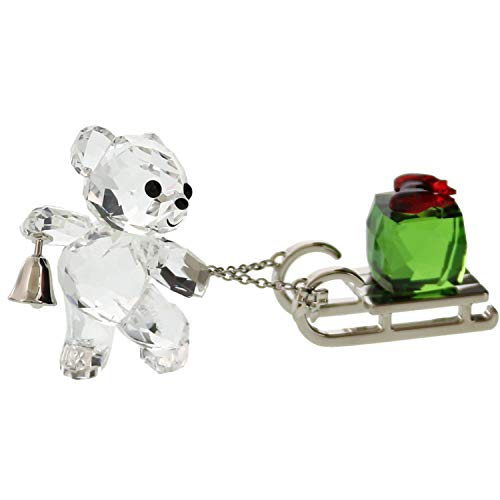 SWAROVSKI Kris Bear - Christmas 2019 Holiday Décor, Clear (Crystal Christmas Figurines)
