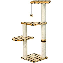 TRIXIE Pet Products Altea Cat Tree (Beige with paw prints)
